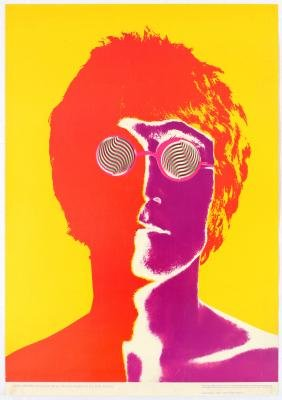 Advertising Poster The Beatles Avedon John Lennon