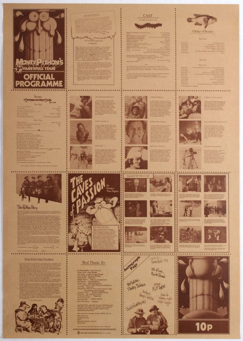 Advertising Poster Monty Python Tour Programme