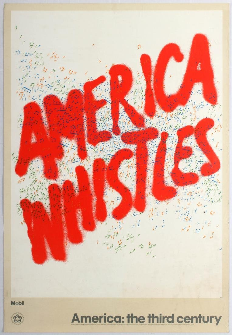 Advertising Poster America Whistles Edward Ruscha