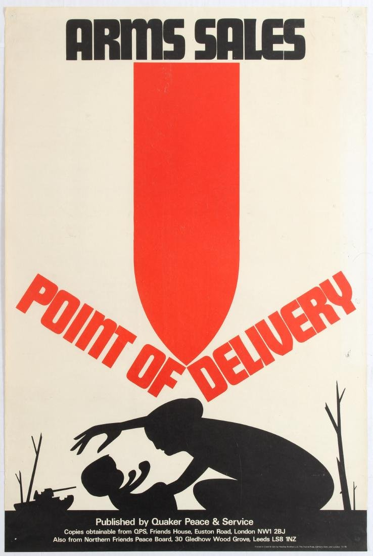 Anti War Propaganda Poster Arms Sales Point of Delivery