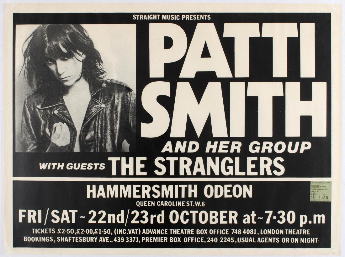 Punk Music Advertising Poster Patti Smith The