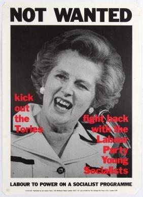 Political Propaganda Poster Tories Vampire Thatcher