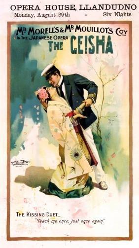 Advertising Poster The Geisha Opera House Llandudno