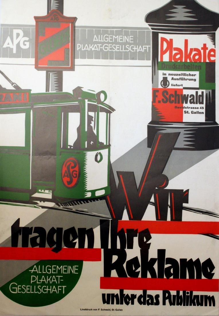 Advertising Poster F Schwald Poster Printers Modernist