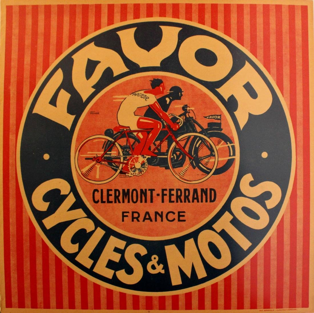 Advertising Poster Favor Cycles Motorcycles