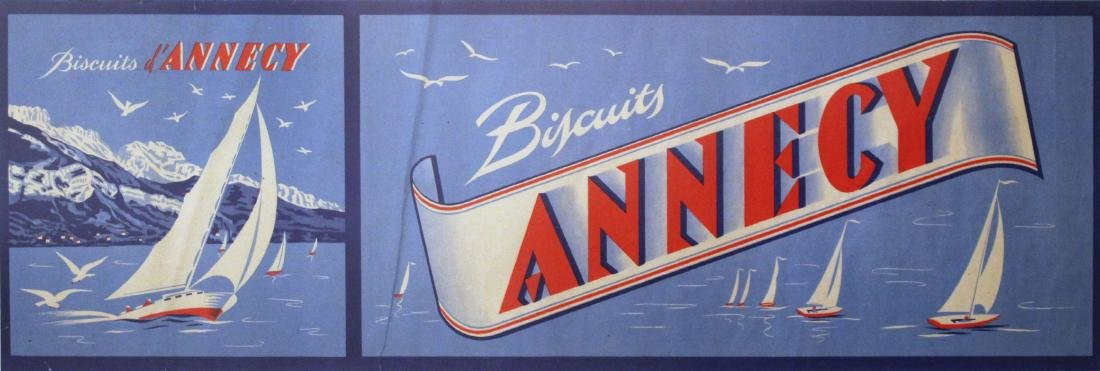 Advertising Poster Biscuits Annecy Yachts