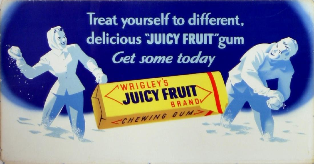 Advertising Poster Wrigley's Juicy Fruit Gum