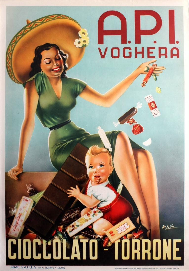 Advertising Poster API Voghera Chocolate