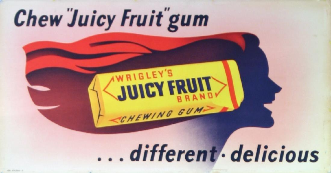 Advertising Poster Wrigley's Juicy Fruit