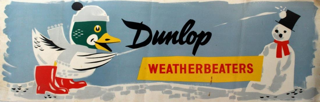 Advertising Poster Dunlop Wellies