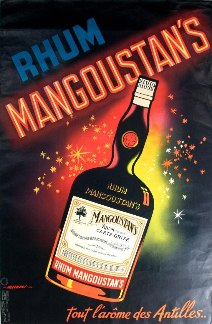 Advertising Poster Rhum Mangoustan's