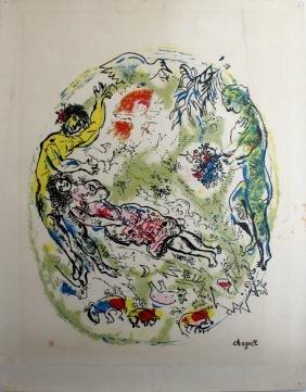 Advertising Poster Chagall Sur la Terre des Dieux