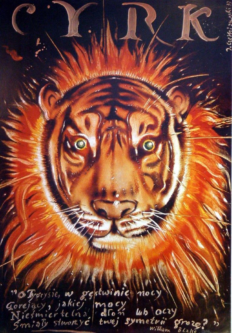 Advertising Poster Cyrk Tiger Tiger