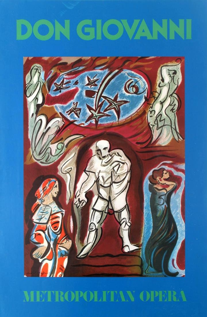 Advertising Poster Don Giovanni Metropolitan Opera