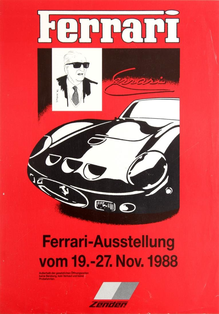 Advertising Poster Ferrari Exhibition