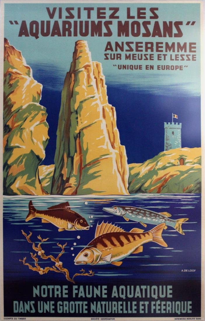 Travel Poster Aquariums Mosans