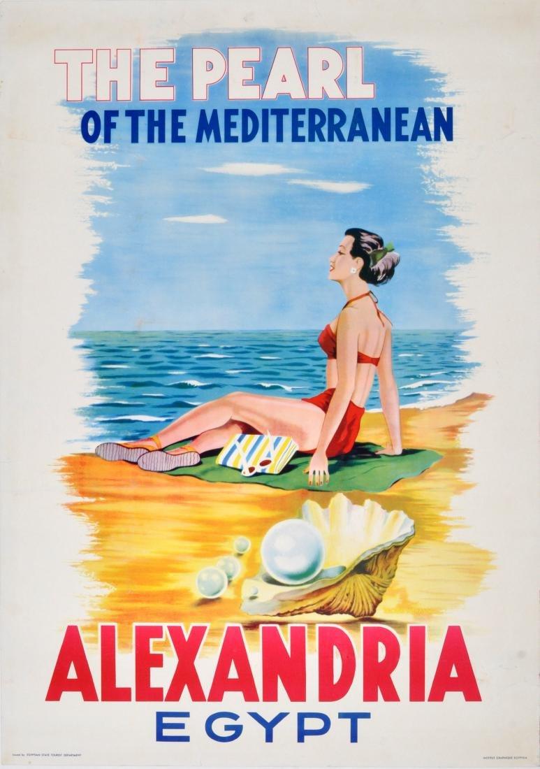 Travel Poster Alexandria Egypt