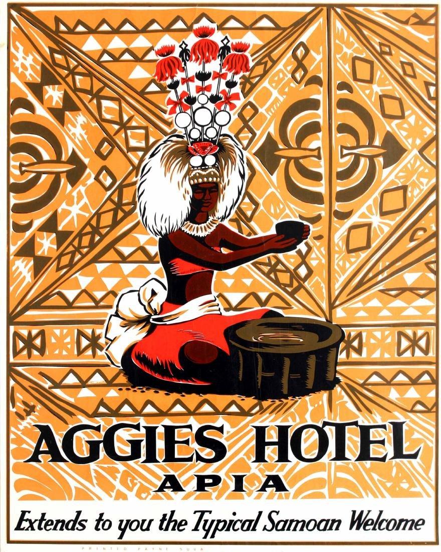 Travel Poster Aggies Hotel Apia Samoa