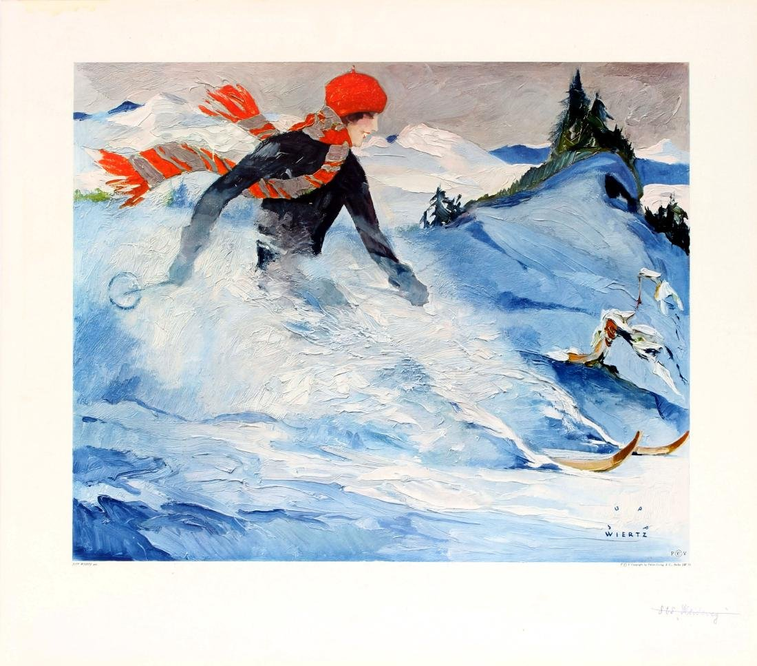 Ski Poster Skiing Christiania