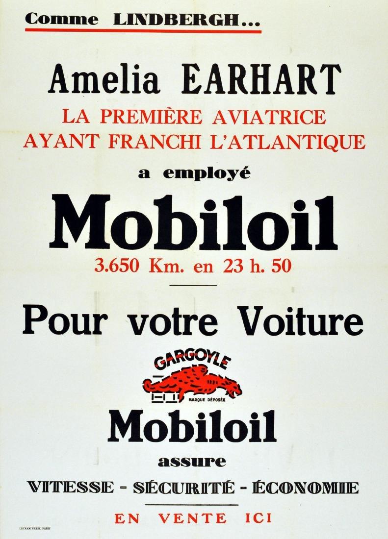 Sport Poster Amelia Earhart Mobiloil