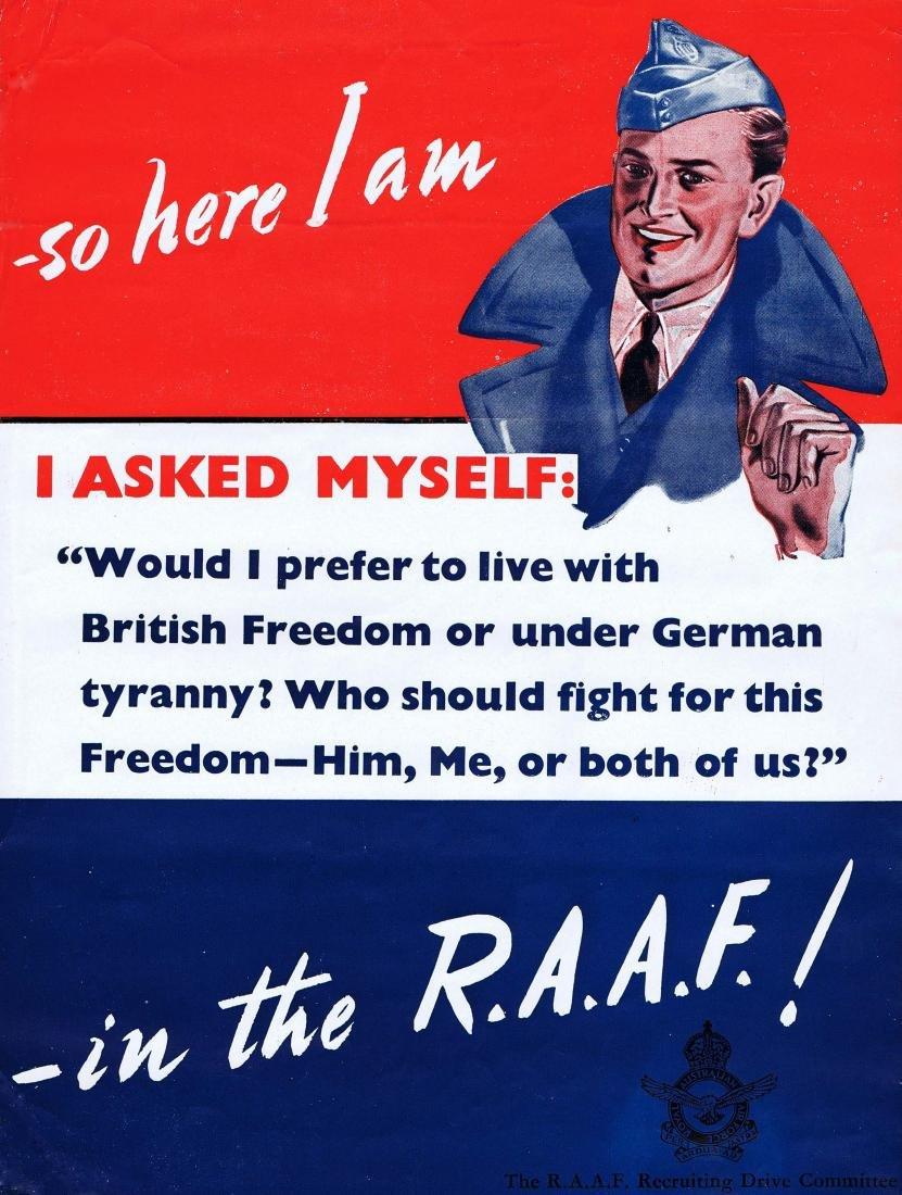 War Poster Royal Australian Air Force WWII recruitment