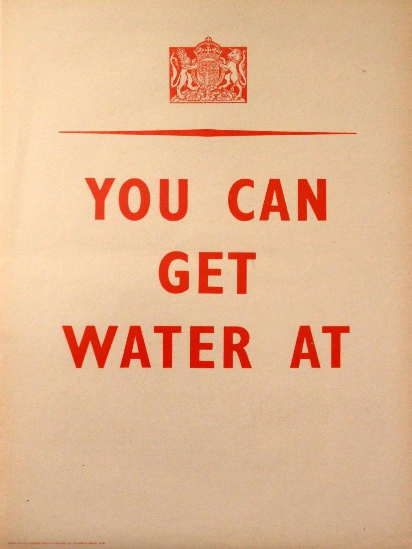 War Poster You Can Get Water At WWII