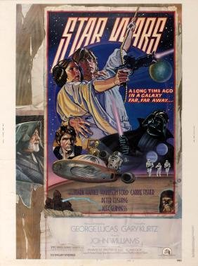 Movie Poster Star Wars A New Hope Style D