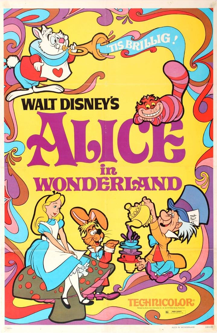 Movie Poster Alice in Wonderland Disney