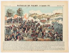 Advertising Poster Epinal Print Battle of Valmy 20