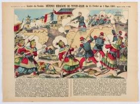 Poster War of Tonkin Heroic Defence of Tuyen Quan