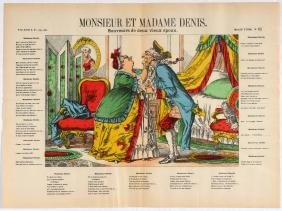 Advertising Poster Epinal Print Mister and Madame Denis