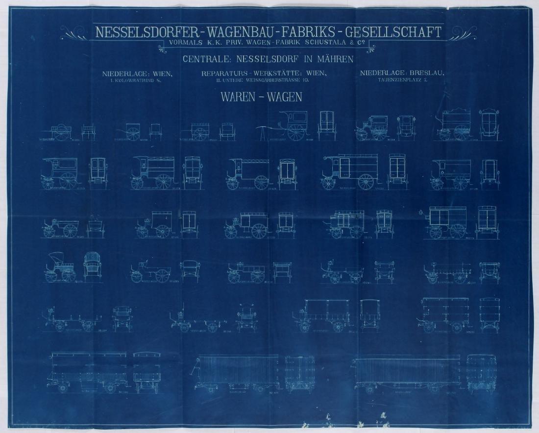 Advertising Poster Nesselsdorfer Wagenbau Carts Cars