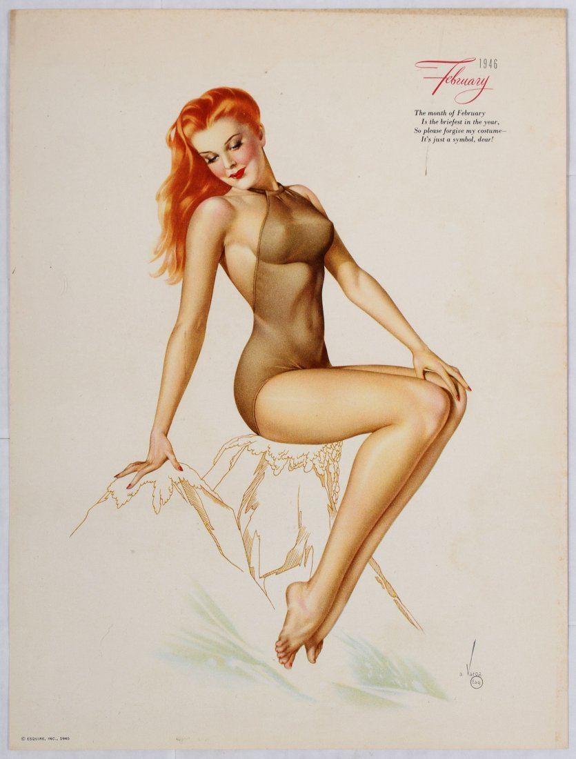 Posters Esquire Pin Up Girls Calendar 1946 Varga - 3