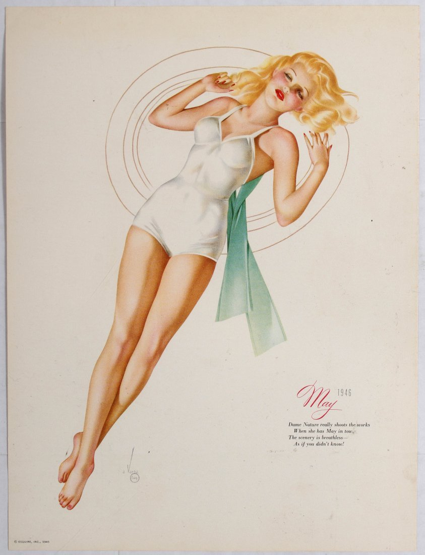 Posters Esquire Pin Up Girls Calendar 1946 Varga - 5