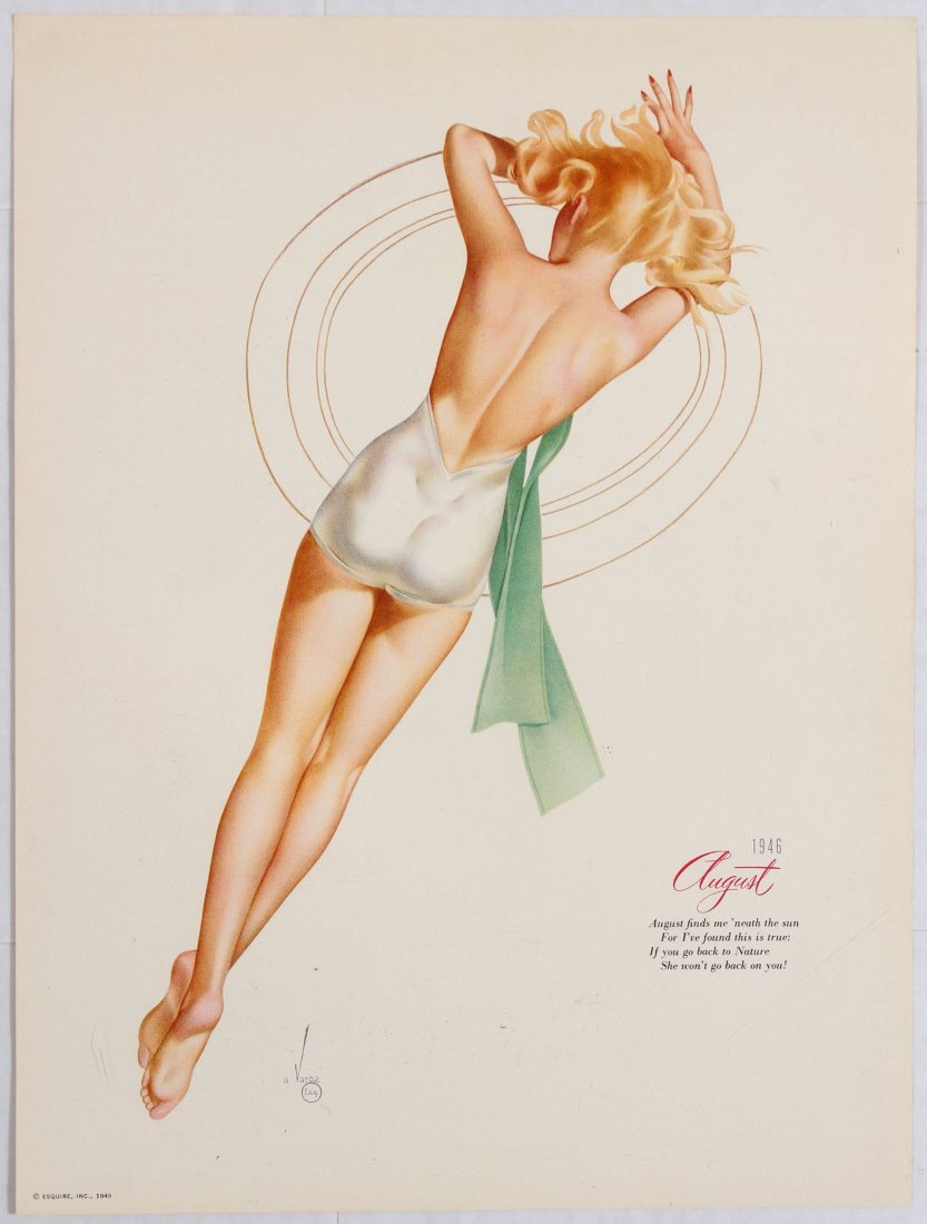 Posters Esquire Pin Up Girls Calendar 1946 Varga - 6