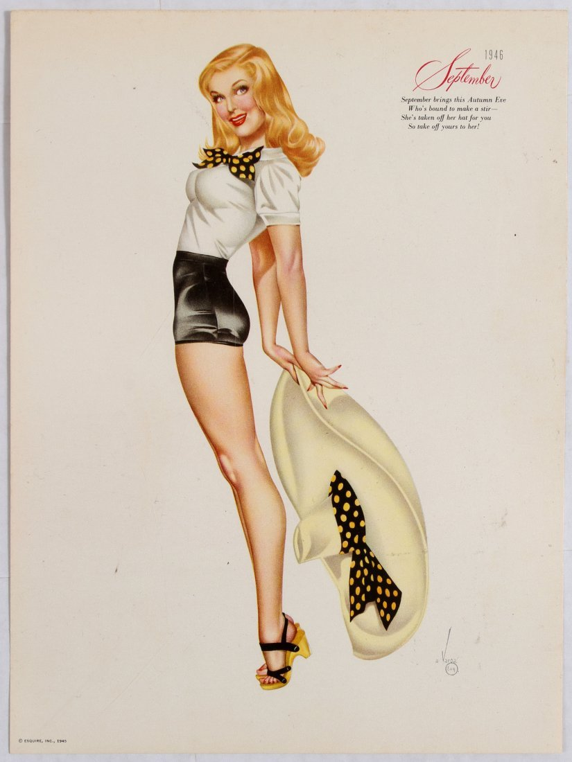 Posters Esquire Pin Up Girls Calendar 1946 Varga - 7