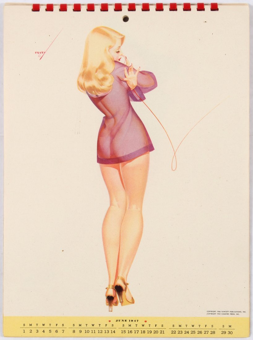 Pin Up Girl Poster Calendar 1947 George Petty - 4