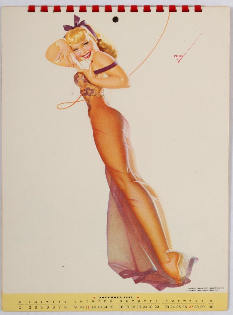 Pin Up Girl Poster Calendar 1947 George Petty - 8
