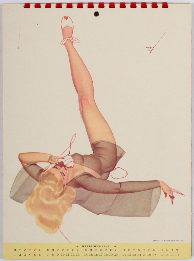 Pin Up Girl Poster Calendar 1947 George Petty - 9