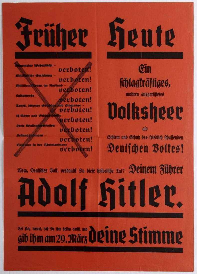 Nazi Propaganda Poster Adolf Hitler