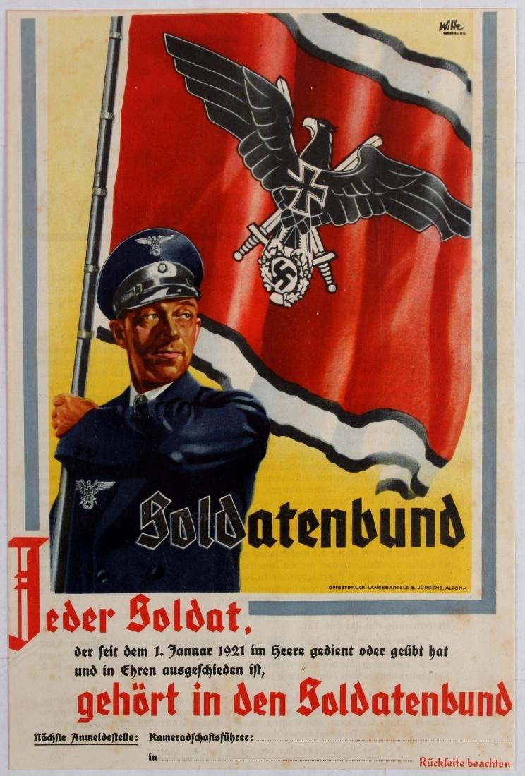 Nazi Propaganda Poster Soldatenbund Third Reich
