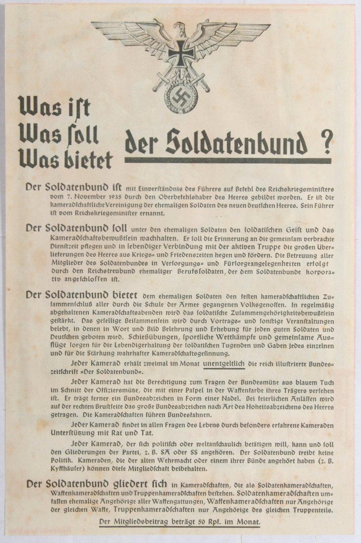 Nazi Propaganda Poster Soldatenbund Third Reich - 2