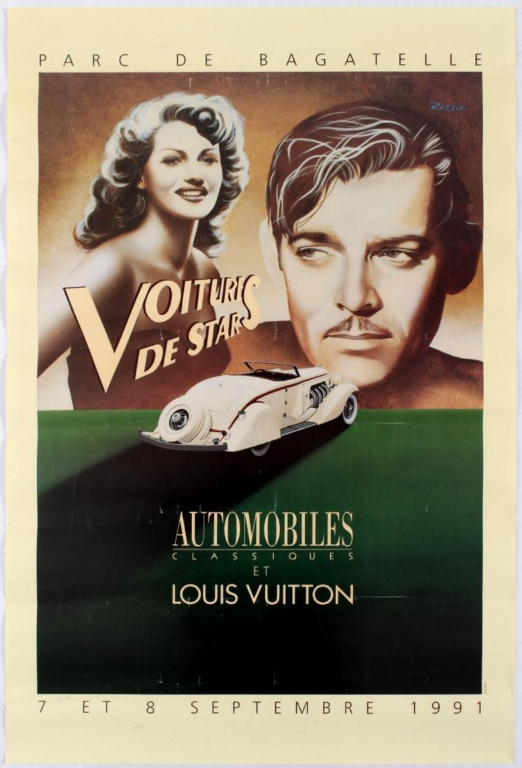 Advertising Poster Cars of Stars Classic Cars Razzia