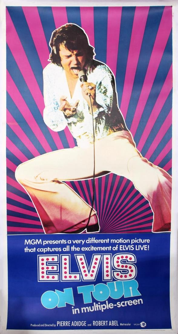 Movie Poster Elvis On Tour Pierre Adidge Robert Abel
