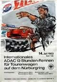 Sport Poster International ADAC 12hour race 1963