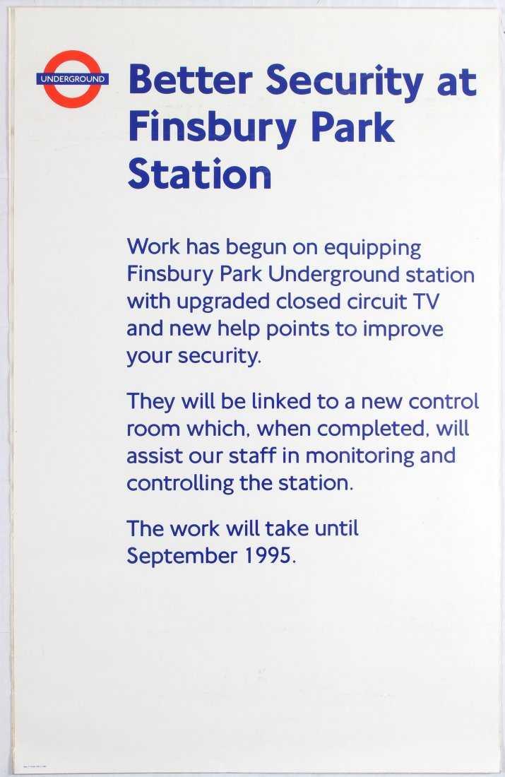London Underground Security Finsbury Park Ira Assist Circuit