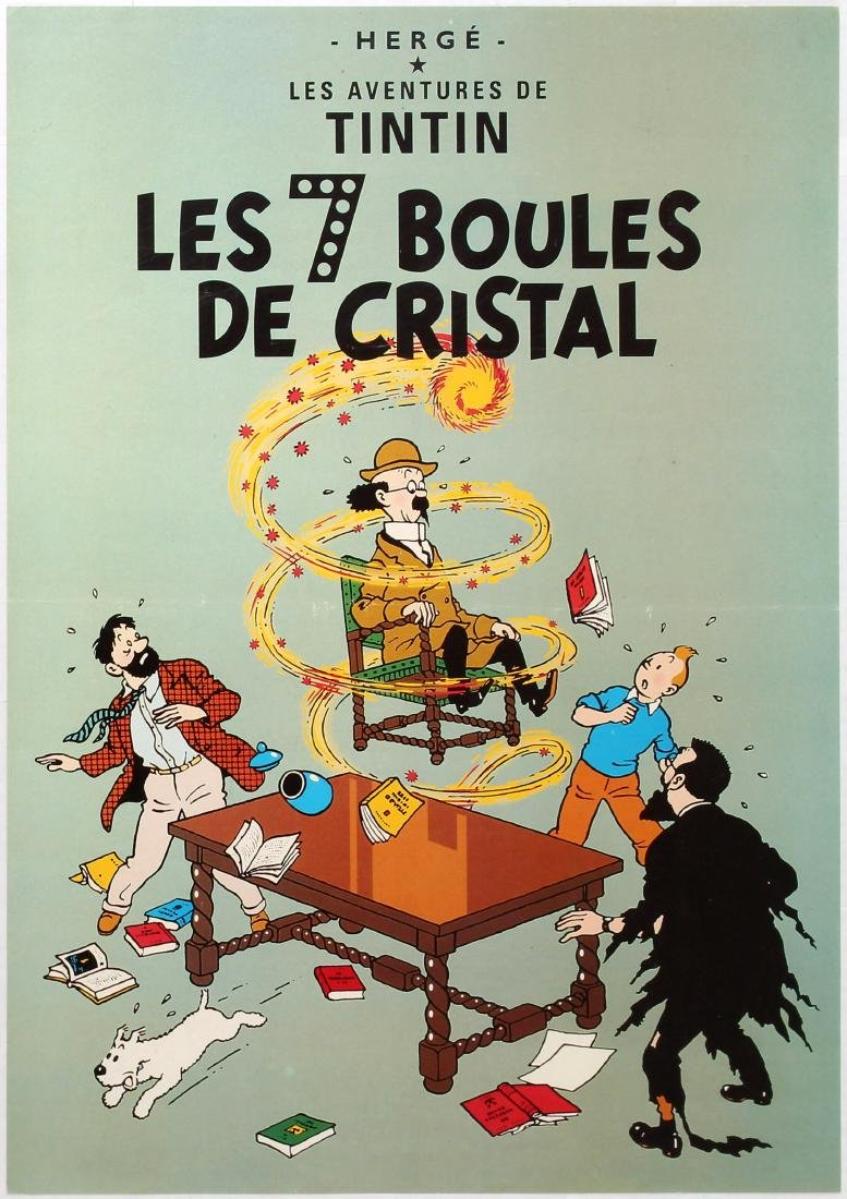 Advertising Poster The Adventures of Tintin The Seven