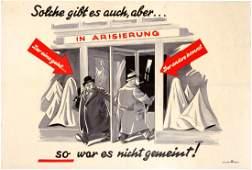 Nazi Propaganda Antisemitic Poster Germany Third Reich