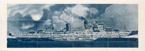Propaganda Poster Royal Navy HMS Southampton Italy