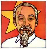 Cuba Propaganda Poster Ho Chi Mihn Rene Mederos 1968